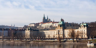 The View on Prague with St. Vitus Cathedral Royalty Free Stock Images