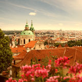 View of Prague in summer Royalty Free Stock Photo