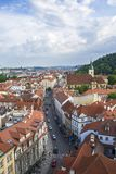 View of Prague from the tower of the Cathedral of St. Peter. Panorama of Prague. Architecture of Prague. Old town royalty free stock photos