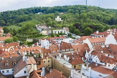 View of Prague from the tower of the Cathedral of St. Peter. Panorama of Prague. Architecture of Prague royalty free stock photography
