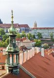 View of Prague from the tower of the Cathedral of St. Peter. Panorama of Prague. Architecture of Prague royalty free stock image
