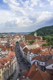 View of Prague from the tower of the Cathedral of St. Peter. Panorama of Prague. Architecture of Prague stock photos