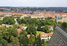 View of Prague. From the tower of Saint Vitus Cathedral Royalty Free Stock Images
