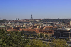 View of Prague with Tv Tower. Sammer travel.  Stock Image