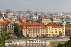 View of Prague and the Vltava River. Stock Images