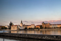 View of Prague and Vltava Royalty Free Stock Images