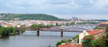View of Prague from Vysehrad (panorama) Royalty Free Stock Photo