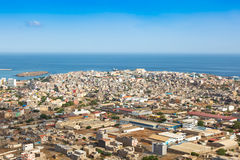 View of Praia city in Santiago - Capital of Cape Verde Islands - Royalty Free Stock Photos