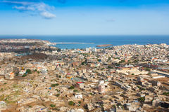 View of Praia city in Santiago - Capital of Cape Verde Islands - Royalty Free Stock Photography