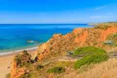 A view of a Praia da Rocha beach Royalty Free Stock Photo