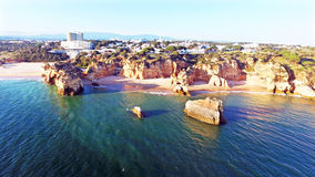 View on Praia da Rocha in Portugal Stock Photos