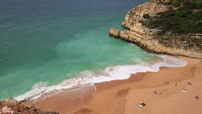 A view of a Praia de Benagil in Algarve region, Portugal, Europe stock footage