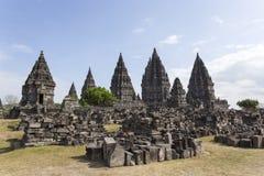 View of Prambanan temple in Java Royalty Free Stock Photography