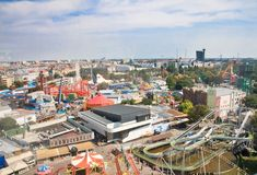 View of the Prater amusement park. Vienna. A Royalty Free Stock Photo