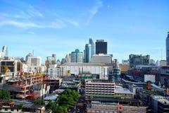 View of Pratunam area. June 03, 2017 - Bangkok - Thailand - View of Pratunam area Royalty Free Stock Image