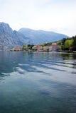 View Prcanj, Montenegro. Adriatic coast in Boka Bay (Montenegro royalty free stock images