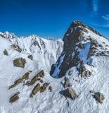 View from Predne Solisko, High Tatras stock photography