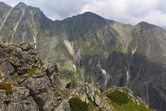 View from Predne Solisko. View from mountain Predne Solisko at mountain range High Tatras Stock Photos