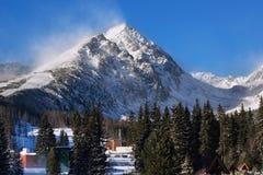 View of the Predne Solisko Mountain in Slovakia. stock photo