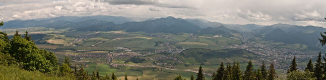 View from Predny Choc hill in Chocske vrchy mountains Stock Photos