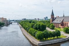 View on Pregolya river in Kaliningrad Stock Image
