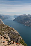 View from Preikestolen Royalty Free Stock Images