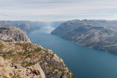 View from Preikestolen Royalty Free Stock Photo