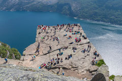 View on Preikestolen Royalty Free Stock Image