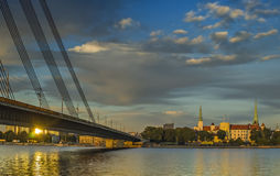 View on president palace in city of Riga, Latvia, Europe Stock Photography