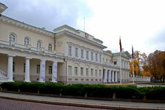 View of the Presidential Palace in Vilnius Stock Images