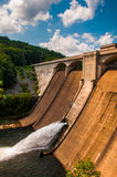 View of Prettyboy Dam and the Gunpowder River, in Baltimore Coun. Ty, Maryland Stock Photo
