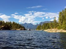View of Prideaux Haven, in Desolation Sound, British Columbia, C. Anada stock image