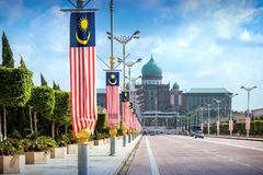 View of the Prime Minister`s office from the Seri Gemilang Bridge Stock Images