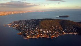 View of prince island in istanbul Turkey stock video