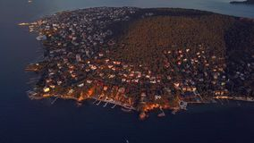 View of prince island in istanbul Turkey stock footage