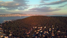 View of prince island in istanbul Turkey stock video footage