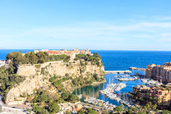 View of prince`s palace in Monte Carlo in a summer day, Royalty Free Stock Images