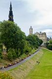 View of Princes street garden, Edinburgh, Scotland Stock Photo