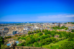 View of Princes Street Royalty Free Stock Photos
