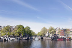 View on prinsengracht from river amstel in amsterdam Stock Image