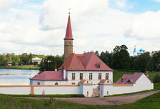 View of Priory Palace in Gatchina Royalty Free Stock Images