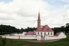 View of Priory Palace in Gatchina Royalty Free Stock Photography