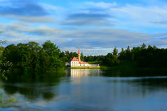 View of Priory Palace in Gatchina Stock Photos