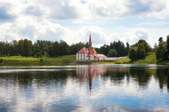 View of Priory Palace in Gatchina Royalty Free Stock Image