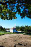 View of Priory Palace in Gatchina. Scenic views of the Priory Palace in Gatchina autumn morning Royalty Free Stock Photo