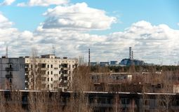 View from pripyat hotel Royalty Free Stock Images