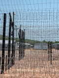 View through the prison fence,. Coconut prison, Phu Quoc, Vietnam stock photography