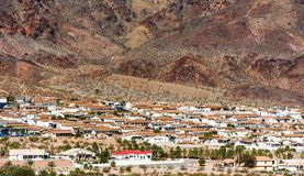 View of the private buildings of Boulder city, Colorado, USA stock photography