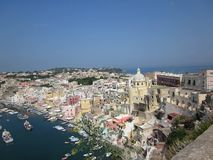 View on Procida island in Italy royalty free stock photo