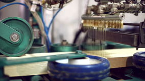 View on production of laminated veneer lumber stock video footage